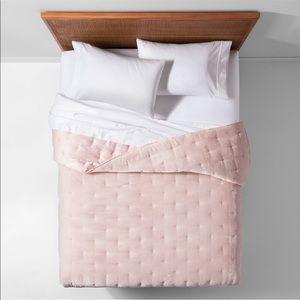 Opalhouse Pink Velvet Twin Comforter and Sham